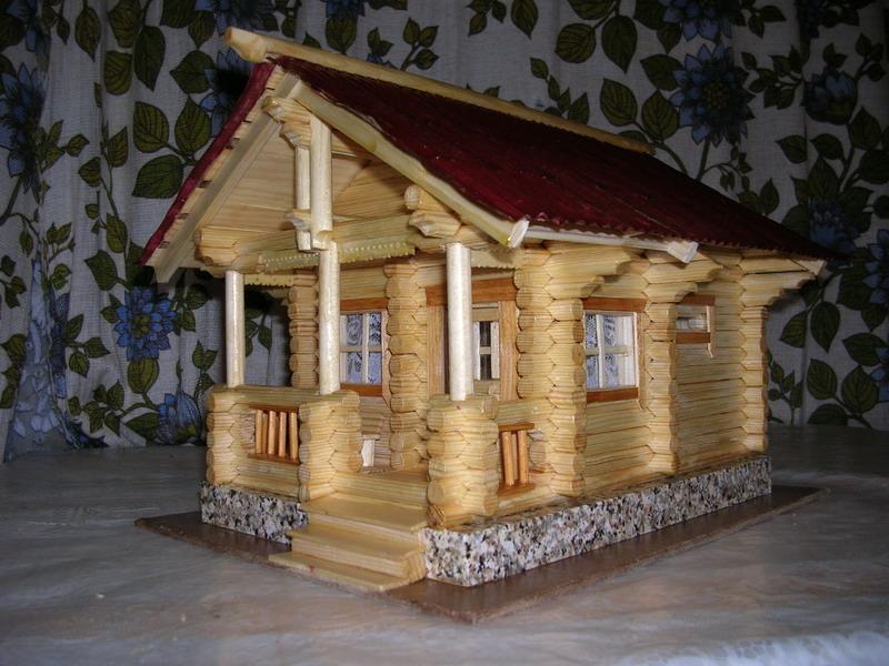 Макет деревянного дома своими руками 10
